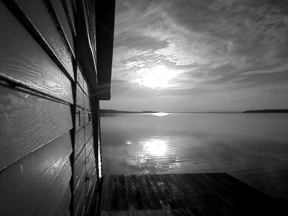 boathouse bw